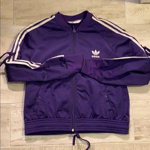 Purple adidas jacket